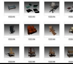 Link toSeveral hundred sets of chairs 3d model