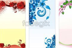 Link toSeveral kinds of exquisite flowers and plants border pattern vector