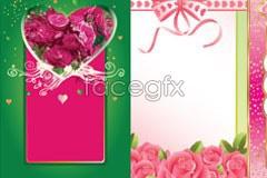 Link toSeveral rose flower-shaped pattern eps vector