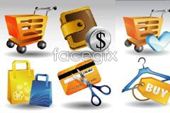 Link toSeveral sets of exquisite shopping theme icon vector