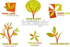Link toSeveral trees theme logo design template vector