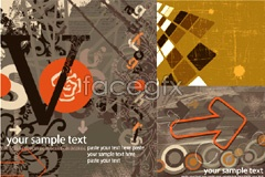 Link toSeveral trends retro background vector