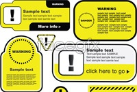 Several warning signs vector illustration
