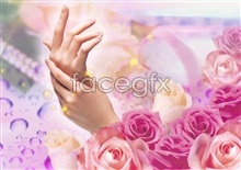 Link toShades of flowers abstract backgrounds psd