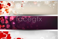 Link toShades of love romantic music banner vector