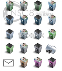 Link toShaft-shaped trash can series icons