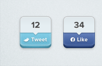 Link toShare buttons psd