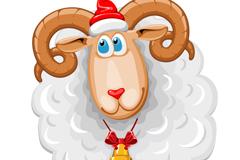 Link toSheep cartoon christmas vector