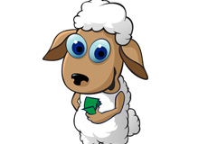 Link toSheep cartoon eye vector
