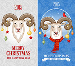 Link toSheep christmas cards vector