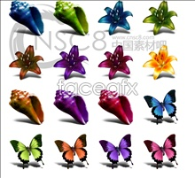 Link toShells butterfly flower icon