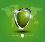Shield firewall illustration vector