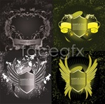 Link toShield pattern of wings vector