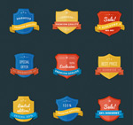 Shield promotional labels vector