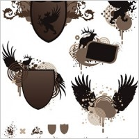Link toShield wings europeanstyle pattern vector