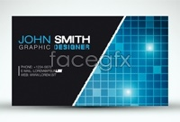 Link toShining technology business card template vector
