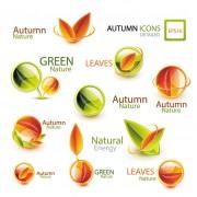 Link toShiny autumn logos creative design vector free