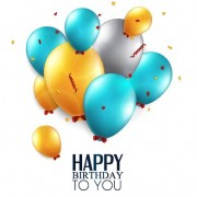 Link toShiny balloon happy birthday design vector 03 free