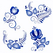 Link toShiny blue flower ornaments vector free
