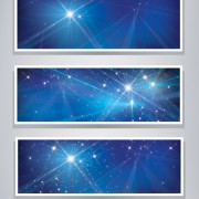Link toShiny blue style banners vector graphics 02 free