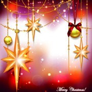 Link toShiny christmas baubles design vector background 01