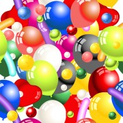 Link toShiny colored balloon seamless pattern vector free