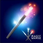 Link toShiny colored magic wands vector background 02 free
