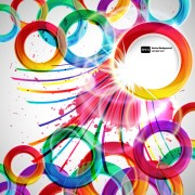 Link toShiny colored round with abstract background free