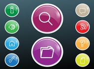 Link toShiny colorful buttons vector free