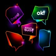 Link toShiny colorful speech bubbles vector 01