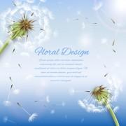 Link toShiny dandelion vector backgrounds 02 free