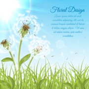 Link toShiny dandelion vector backgrounds 03 free