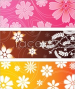 Link toShiny flower background vector