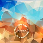 Link toShiny geometric shapes embossment background vector 02 free