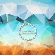 Link toShiny geometric shapes embossment background vector 04 free