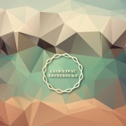 Link toShiny geometric shapes embossment background vector 05 free