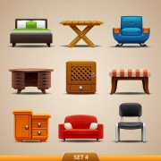 Link toShiny modern furniture icons vector 03 free