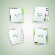 Link toShiny paper labels vector set 02