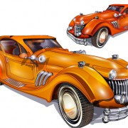 Link toShiny retro car vector graphics free