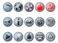 Link toShiny round icons vector free