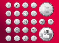 Shiny social media icons vector free