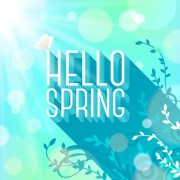 Link toShiny spring elements vector background set 03 free