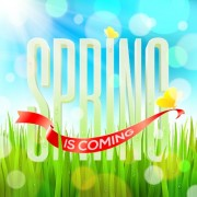 Link toShiny spring elements vector background set 05 free