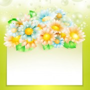 Link toShiny spring flowers creative background vector 01 free