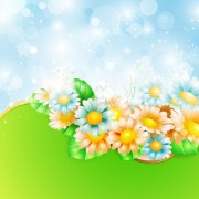 Link toShiny spring flowers creative background vector 05 free