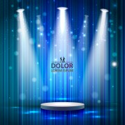 Link toShiny stage spotlights design elements vector 01 free