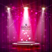 Link toShiny stage spotlights design elements vector 03 free