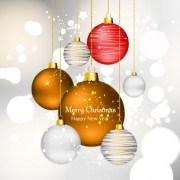 Link toShiny xmas baubles design background vector 04