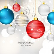 Link toShiny xmas baubles design background vector 05