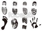 Link toShoe prints prints prints vector